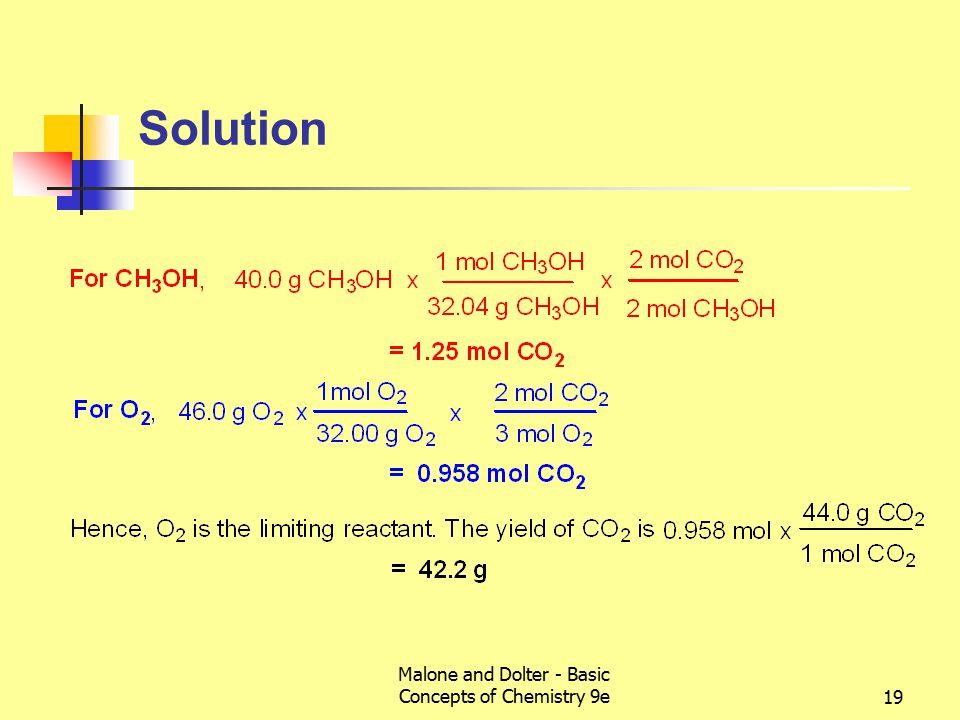 Malone and Dolter - Basic Concepts of Chemistry 9e19 Solution