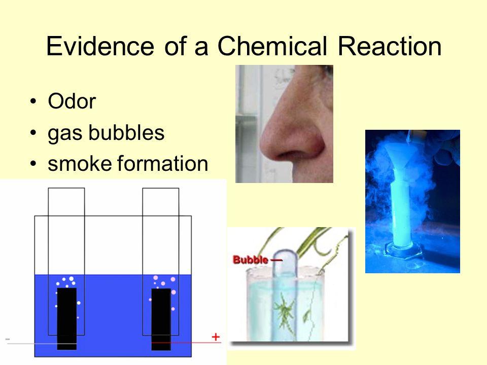 Odor gas bubbles smoke formation