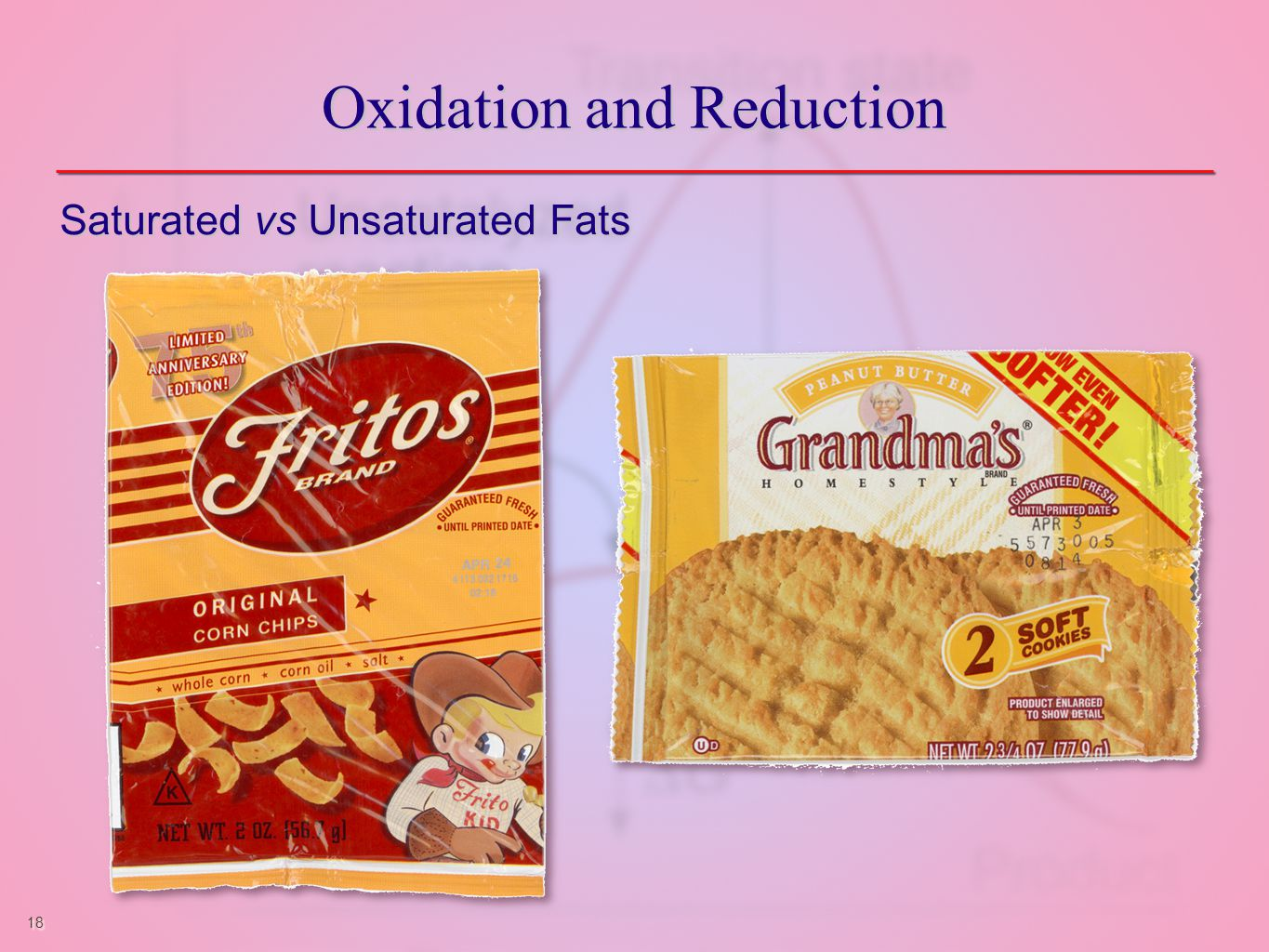 18 Oxidation and Reduction Saturated vs Unsaturated Fats