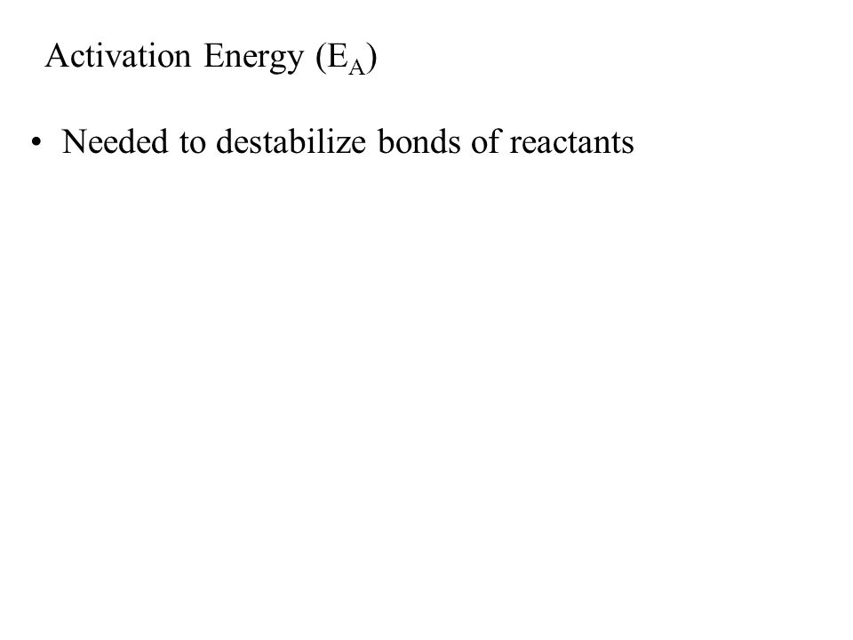 LE 8-14 Transition state CD A B EAEA Products CD A B  G < O Progress of the reaction Reactants C D A B Free energy Could raise temp.