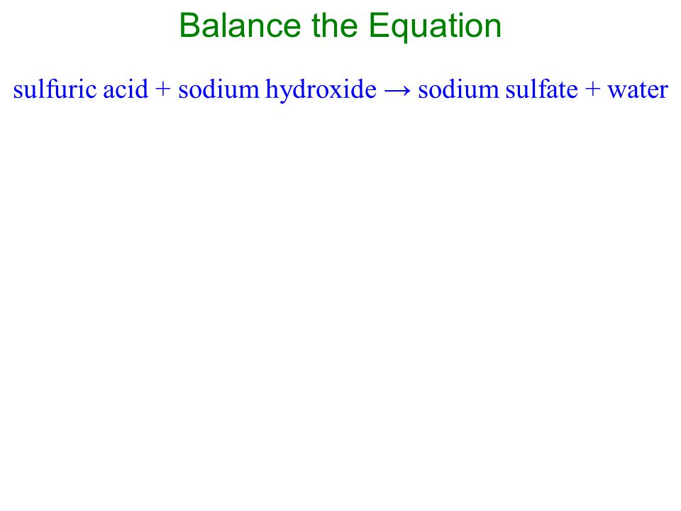 There is one Na on the reactant side and there are two Na on the product side.