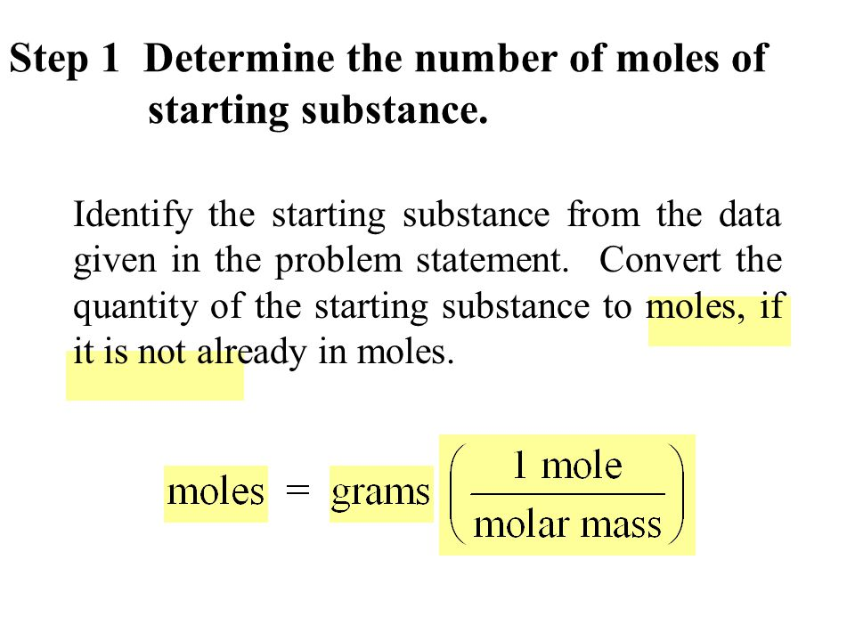 The number of moles of each substance in the balanced equation is indicated by the coefficient in front of each substance.