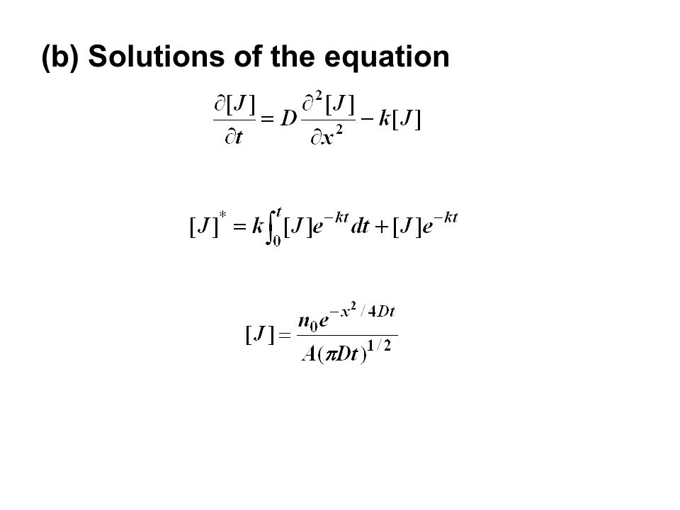 (b) Solutions of the equation