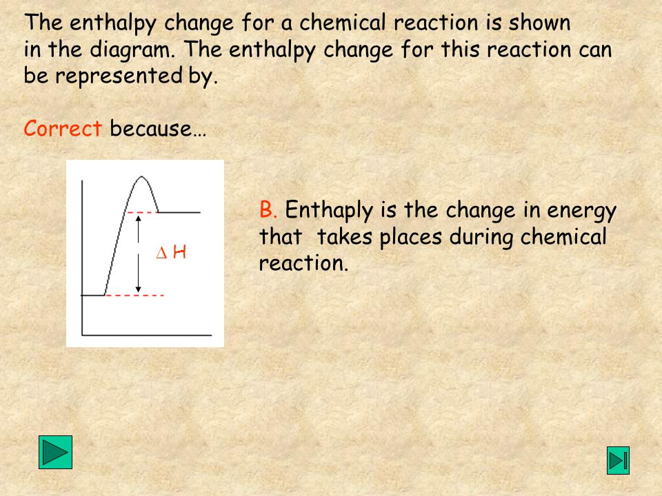 B. Enthaply is the change in energy that takes places during chemical reaction.