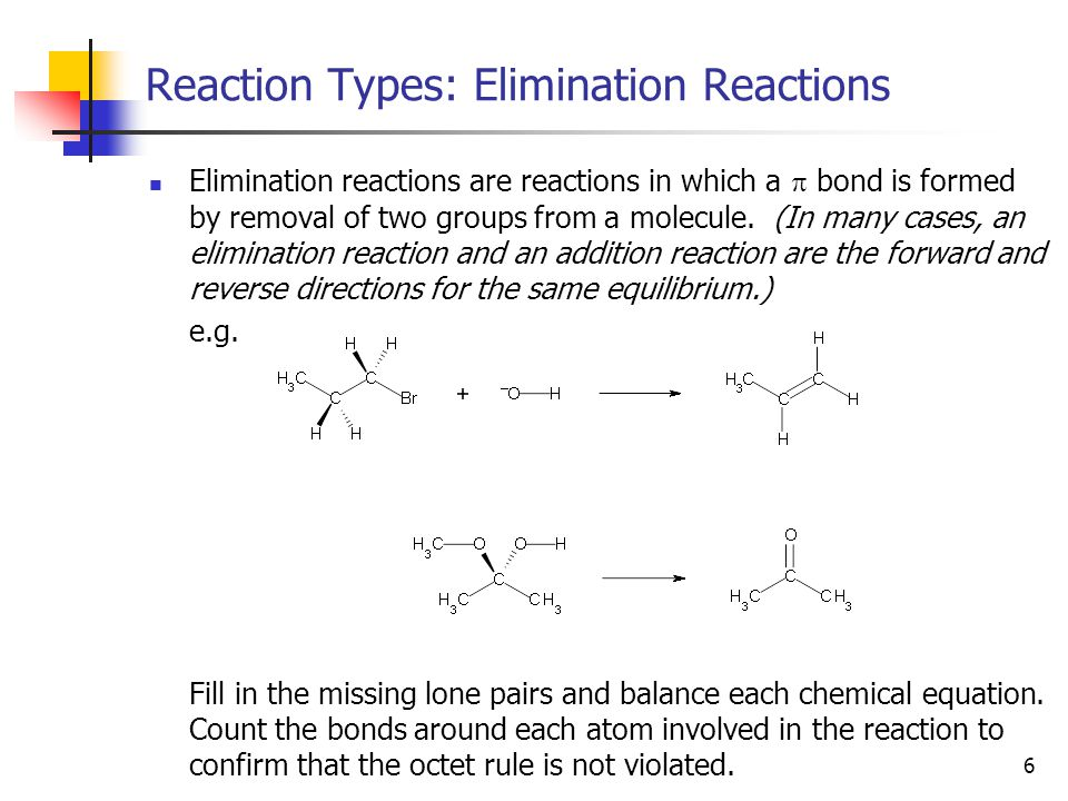 7 Reaction Types: Oxidation Reactions As you know from CHEM 2000, nothing can be oxidized without something else being reduced.