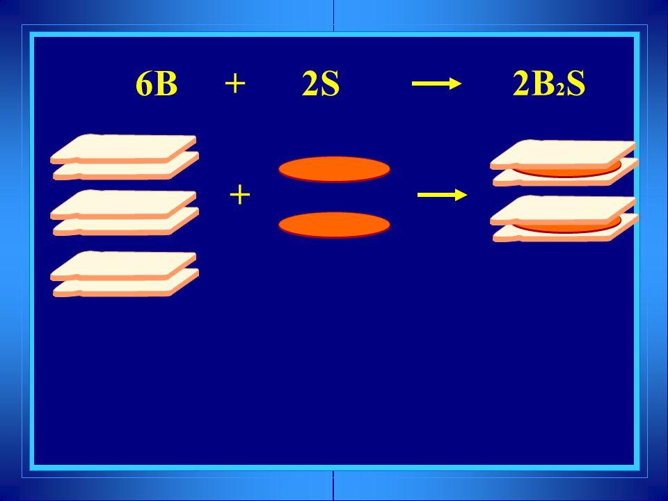 6B + 2S + 2B 2 S