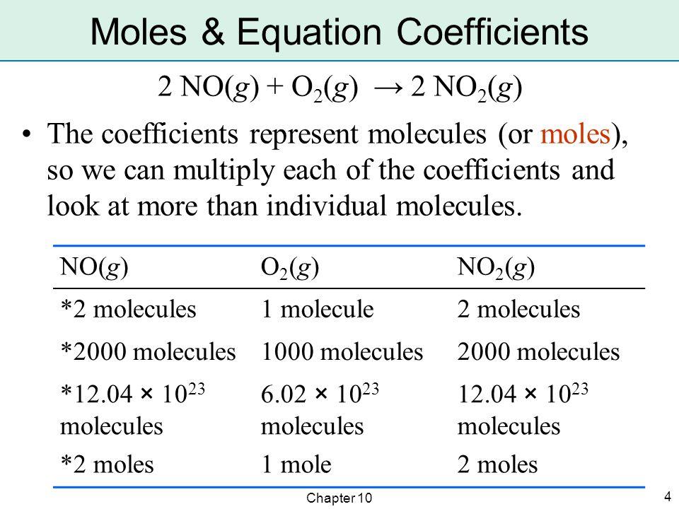 Chapter 10 15 2 HgO(s) → 2 Hg(l) + O 2 (g) g Hg  mol Hg  mol HgO  g HgO Solve by unit factors ( i.e.