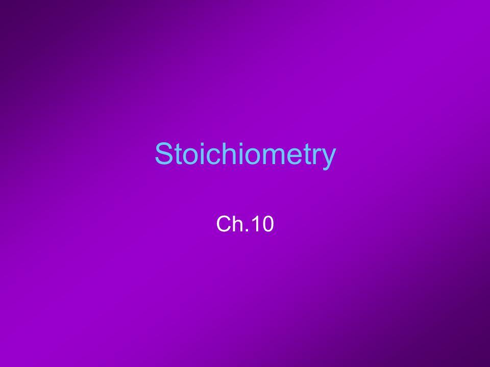 Stoichiometry Ch.10