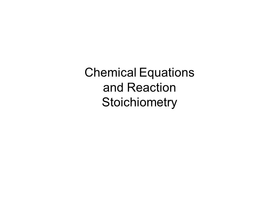 Chemical equations are used to describe chemical reactions, and they show (1)The substances that react, called reactants; (2)the substances formed, called products; and (3) the relative amounts of the substances involved.