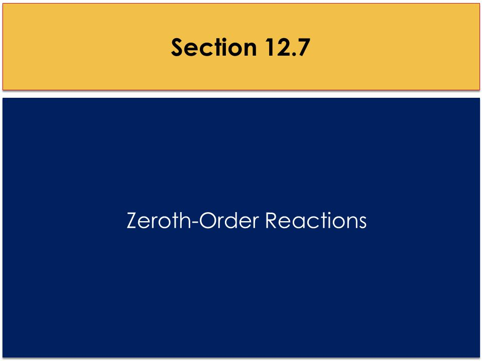Zeroth-Order Reactions Section 12.7