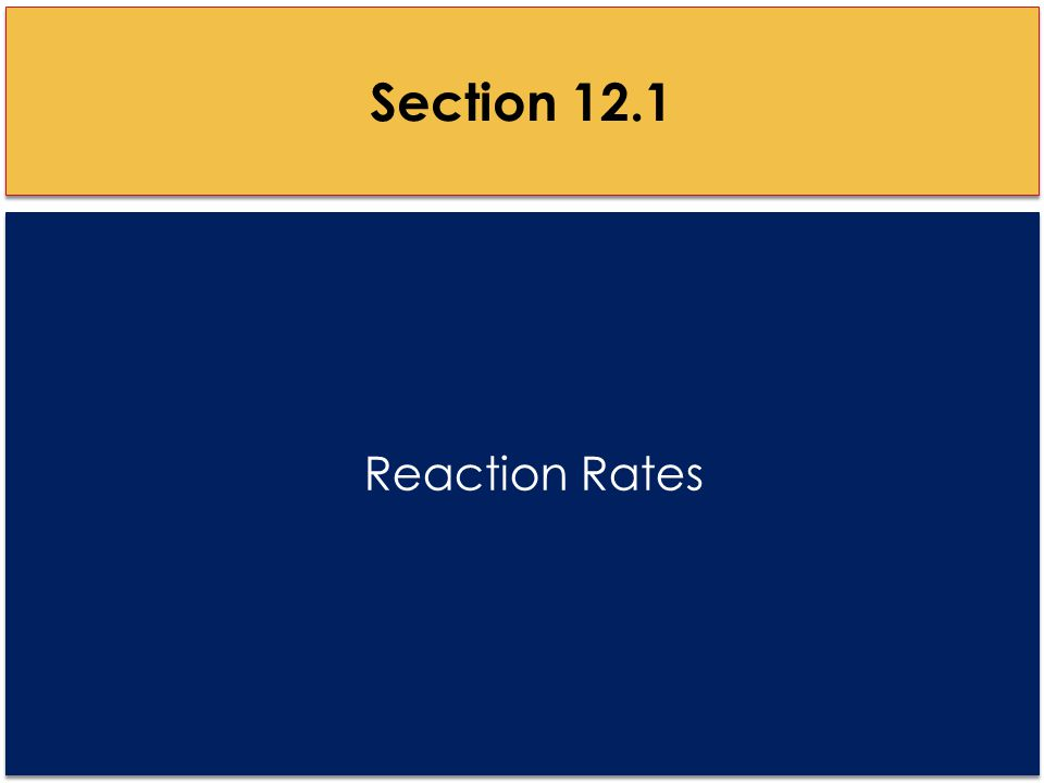 Reaction Rates Section 12.1
