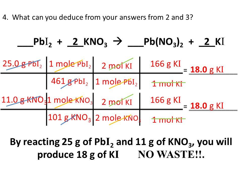 ___Pb I 2 + _2_KNO 3  ___Pb(NO 3 ) 2 + _2_K I 4.
