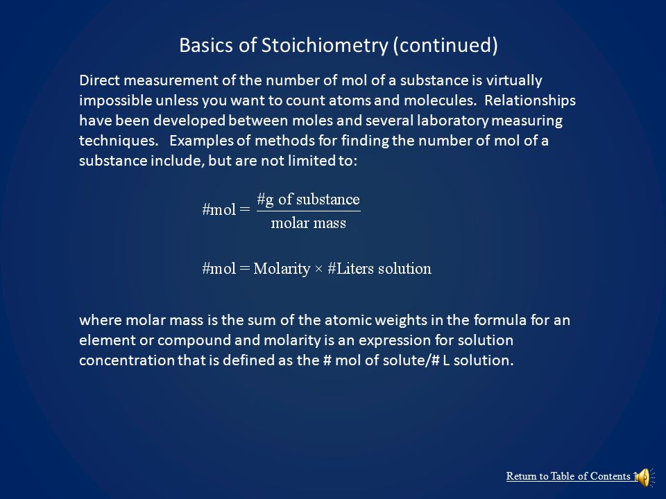 Basics of Stoichiometry Stoichiometry refers to the study and application of the quantitative relationships between reactants and products in chemical reactions.