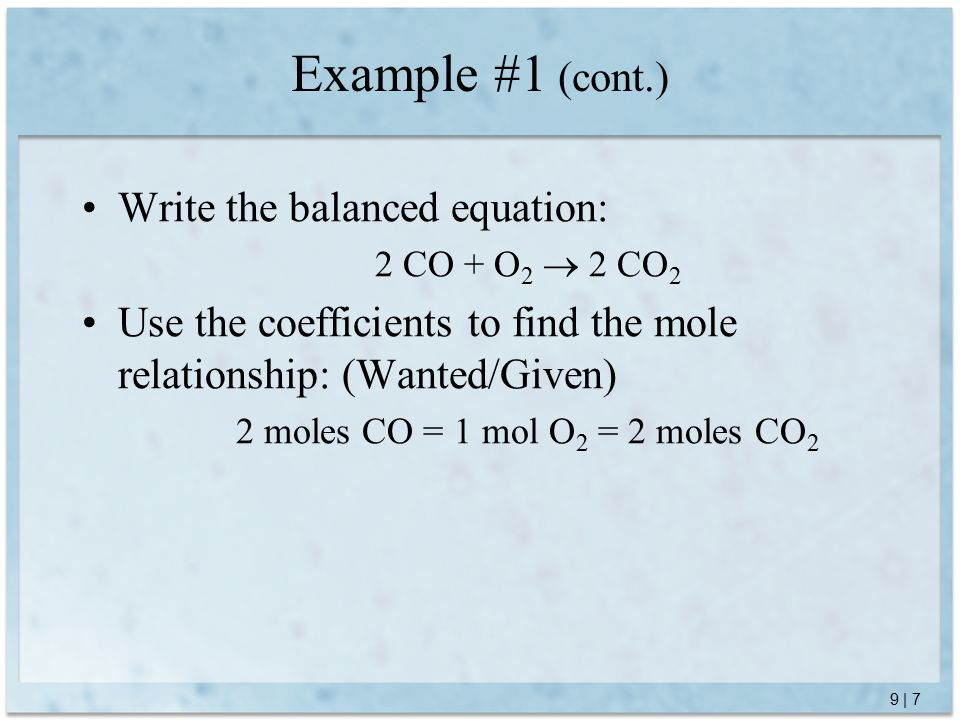 9 | 8 Use dimensional analysis: Example #1 (cont.)