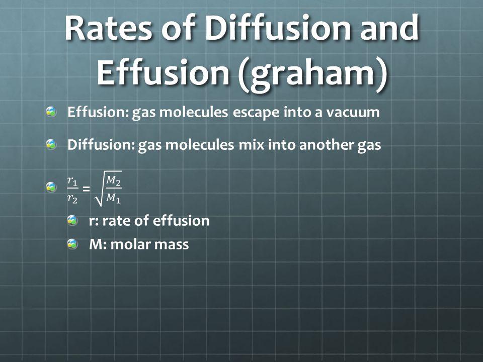 Rates of Diffusion and Effusion (graham)