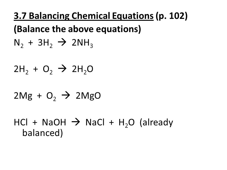 3.8 Stoichiometric Calculations: Amounts of Reactants & Products (p.