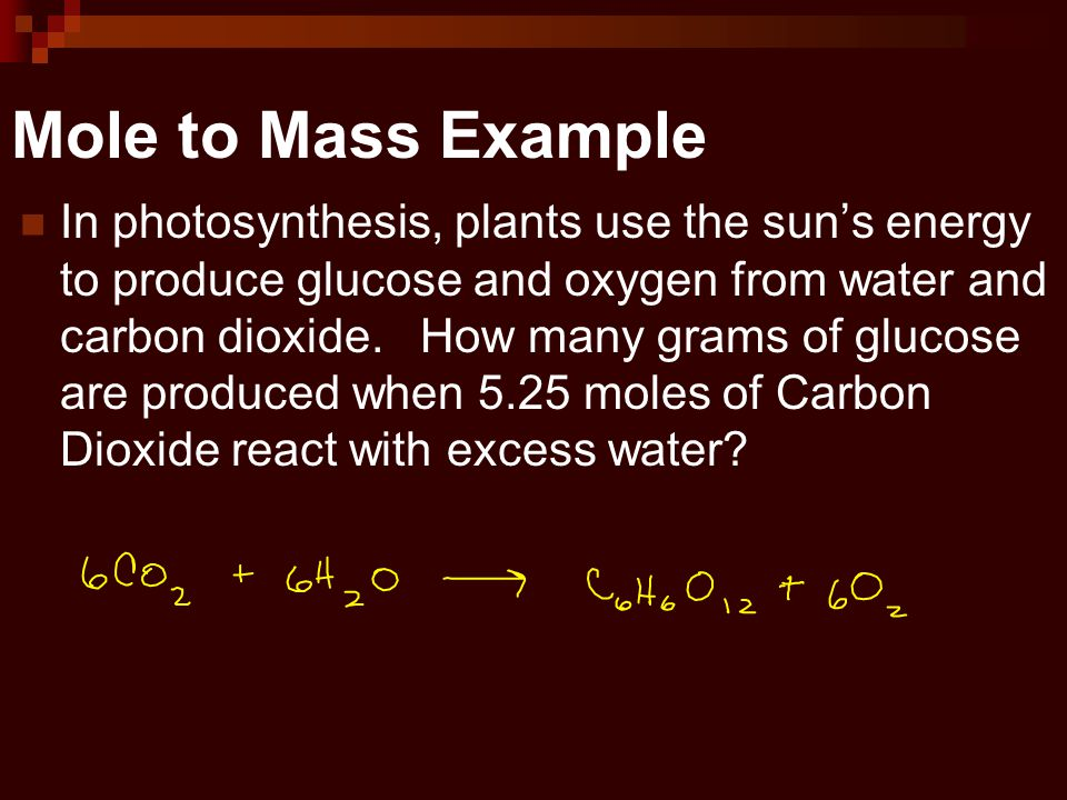 Mole to Mass Example (cont.)
