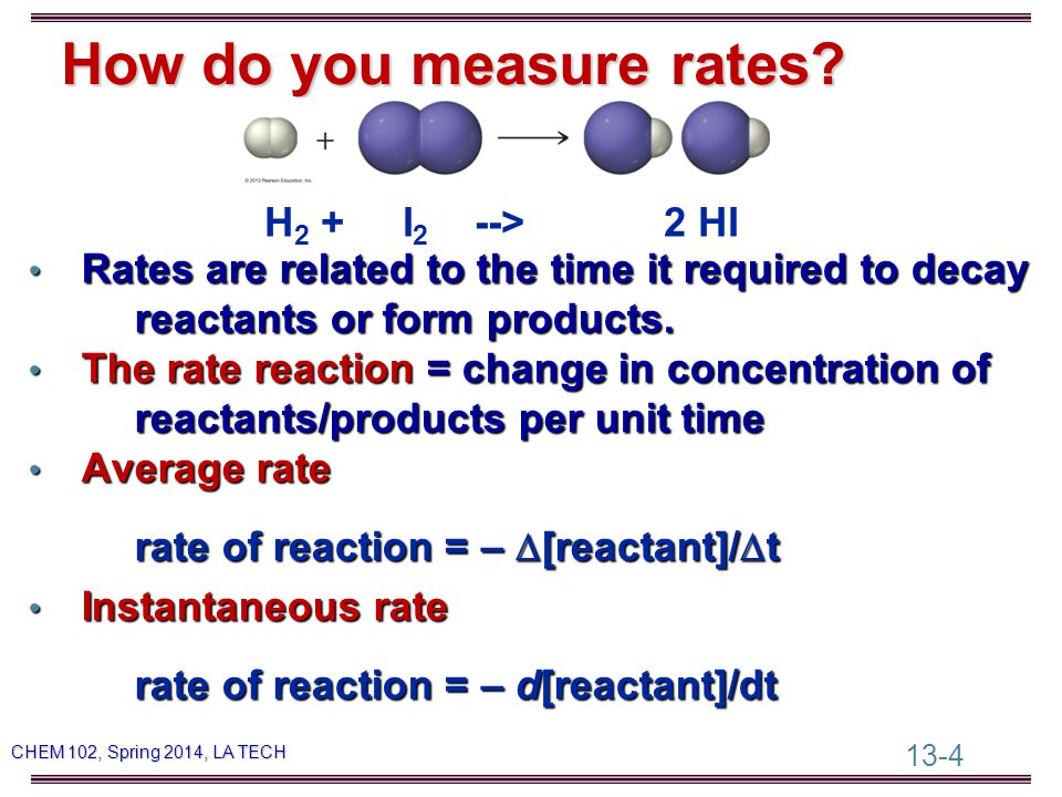 13-25 CHEM 102, Spring 2014, LA TECH Effect of Particle Size on Rate