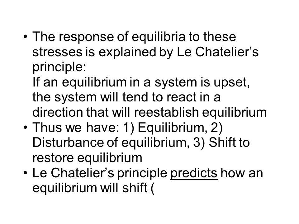 N 2 + 3H 2  2NH 3 + 92 kJ Summary of Le Chatelier's principle E.g.