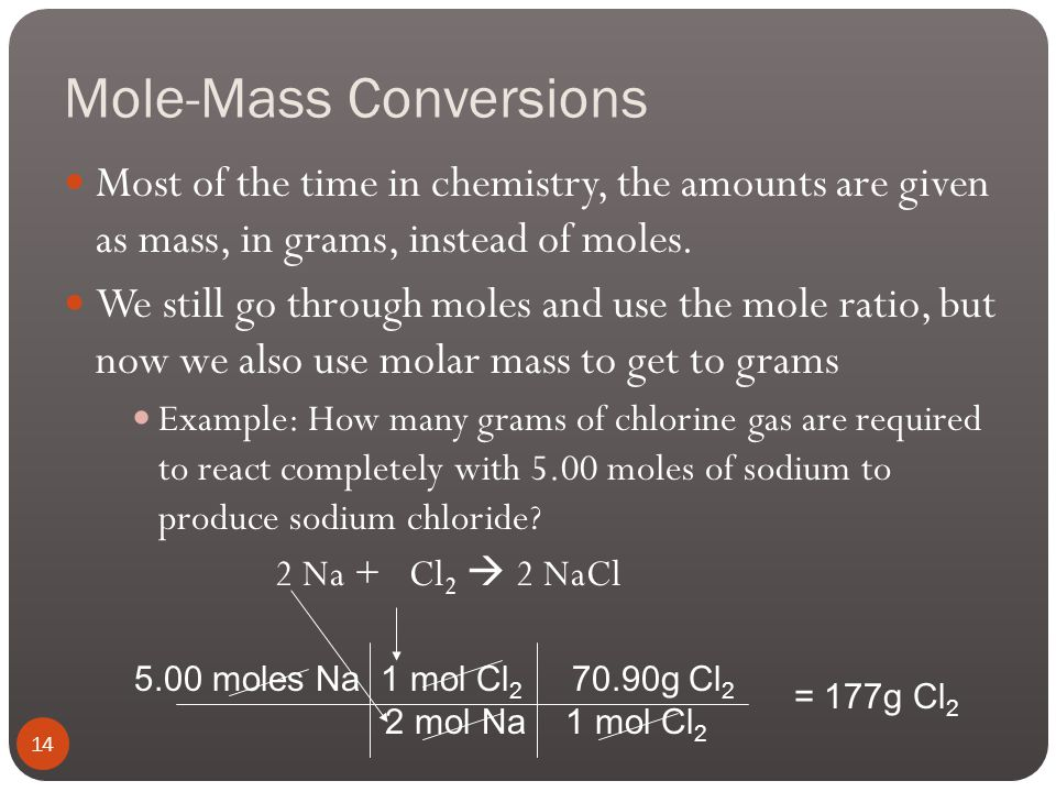 Mass-Mass Conversion Problems 1. If we start with 95.6 g of propane (C 3 H 8 ): A) How many grams of oxygen gas do we need? B) How many grams of CO 2
