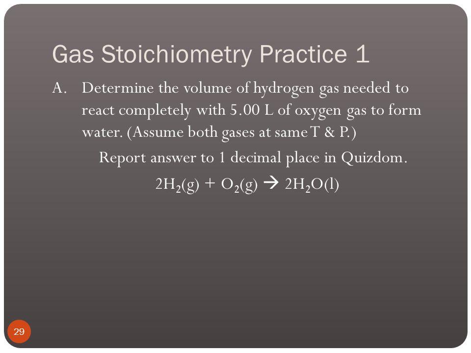Gas Stoichiometry 28