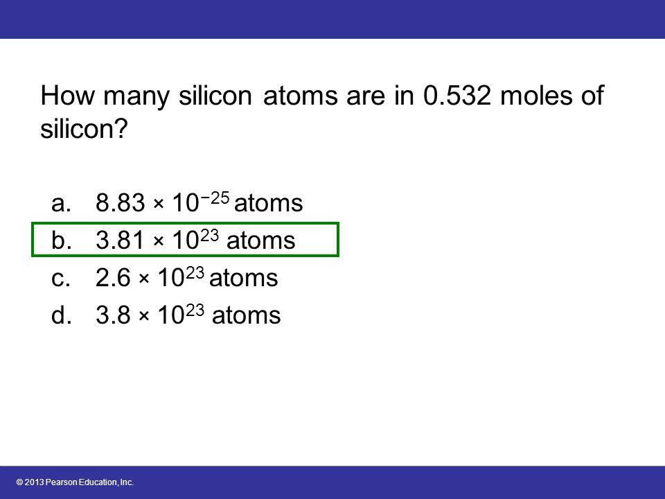 6.2 Gram–Mole Conversions