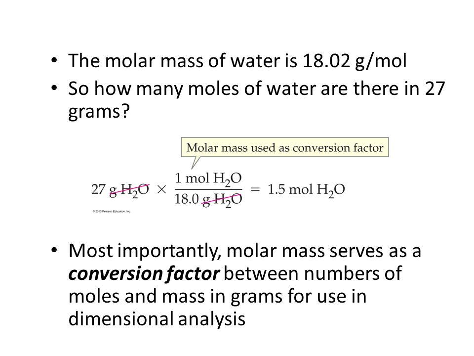Molar Mass: Mole to Gram Conversion Ibuprofen is a pain reliever used in Advil.