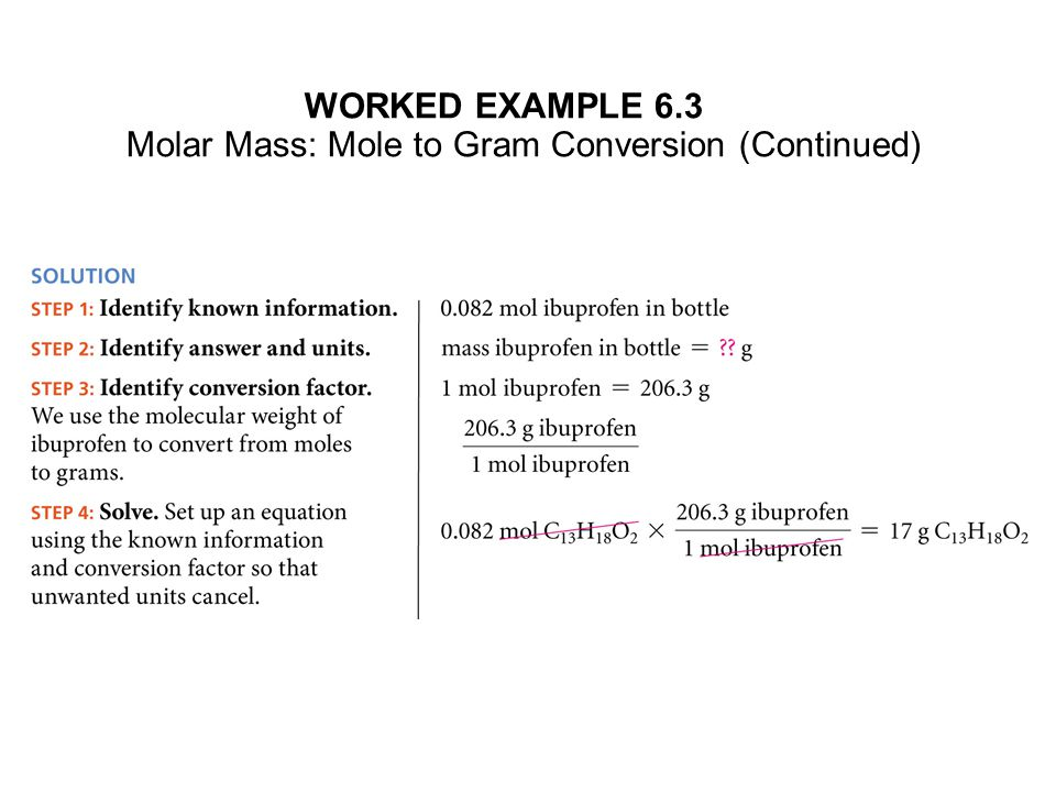 We now have the tools to convert: grams → moles → number of atoms grams → moles → number of molecules grams → moles → number of formula units And we can go backwards