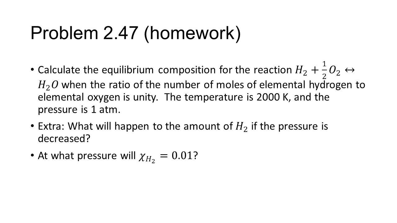 Problem 2.47 (homework)