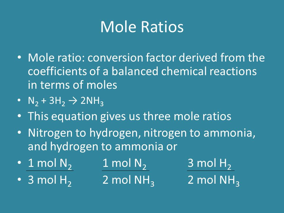 Get all mole ratios for this reaction 2Mg + O 2 → 2MgO