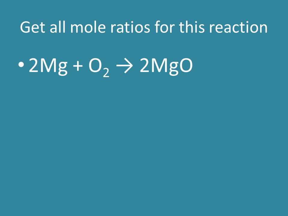 Determining a limiting reactant For these problems, we will be given the starting amounts of two reactants We need to use both and use each to get the amount of one of the products formed