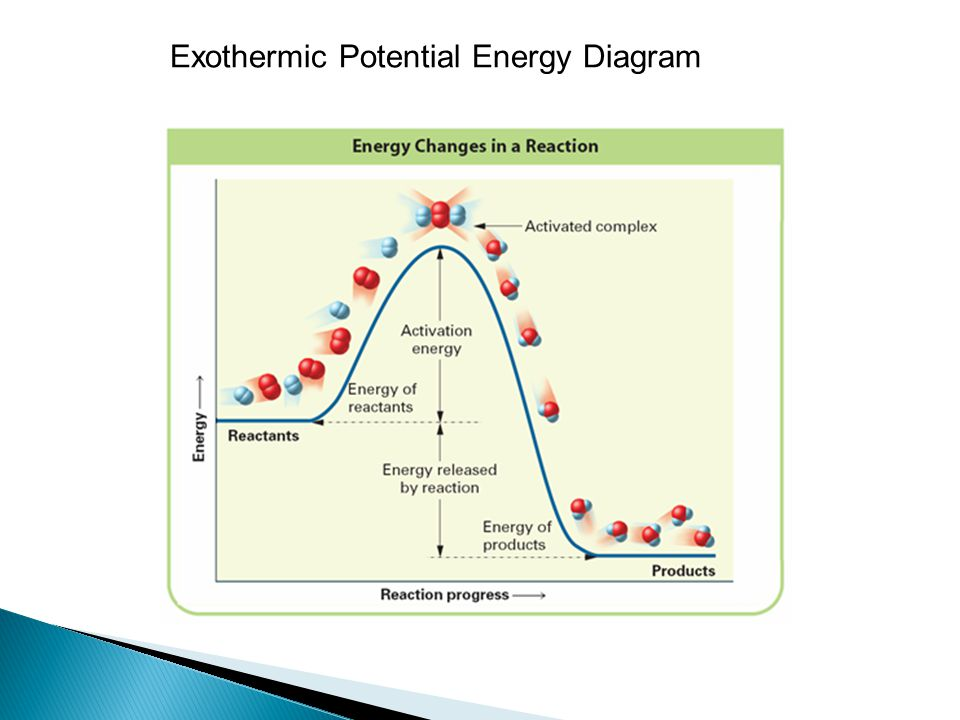 ◦ The minimum energy needed by colliding reactant particles is called the activation energy.