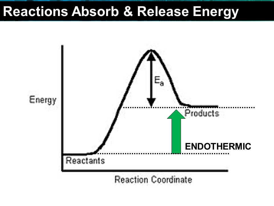 2.4 Chemical Reactions ENDOTHERMIC Reactions Absorb & Release Energy