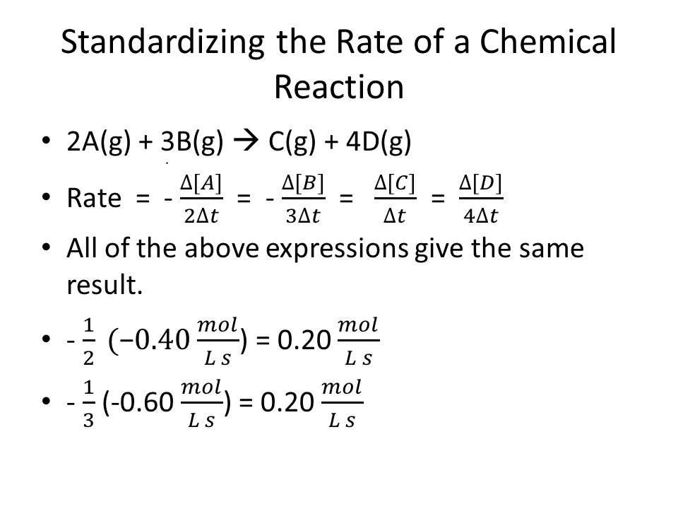 Standardizing the Rate of a Chemical Reaction