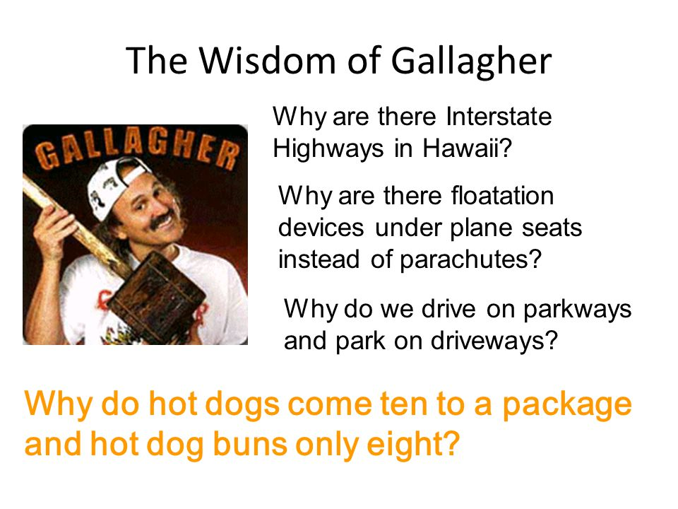 The Wisdom of Gallagher Why are there Interstate Highways in Hawaii.