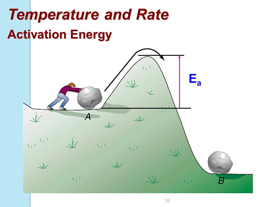 39 Temperature and Rate Activation Energy EaEa
