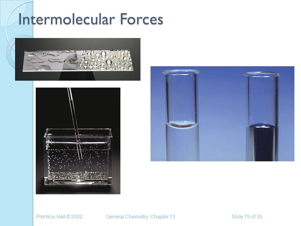Prentice-Hall © 2002General Chemistry: Chapter 13Slide 75 of 35 Intermolecular Forces
