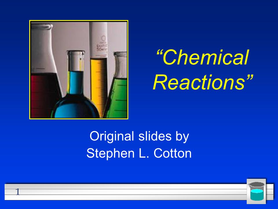 2 All chemical reactions… l have two parts: 1.Reactants = the substances you start with 2.Products = the substances you end up with l The reactants will turn into the products.