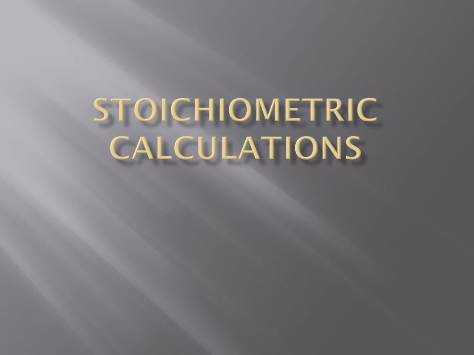  The first step to solving a stoichiometric problem is having a balanced equation.