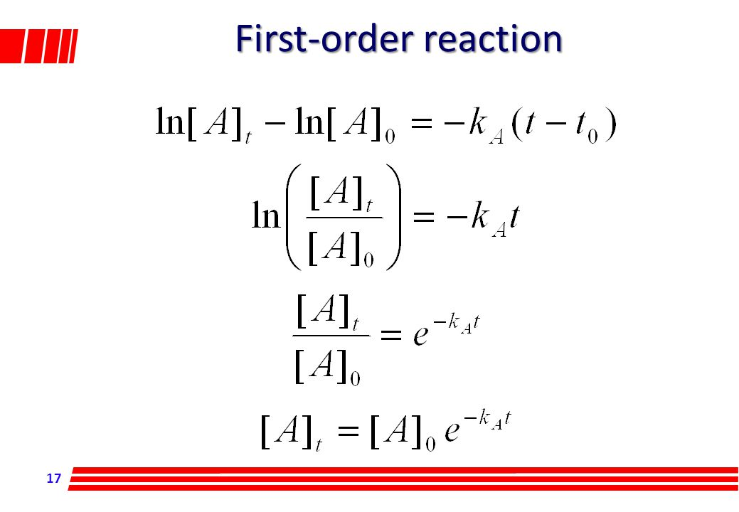 17 First-order reaction