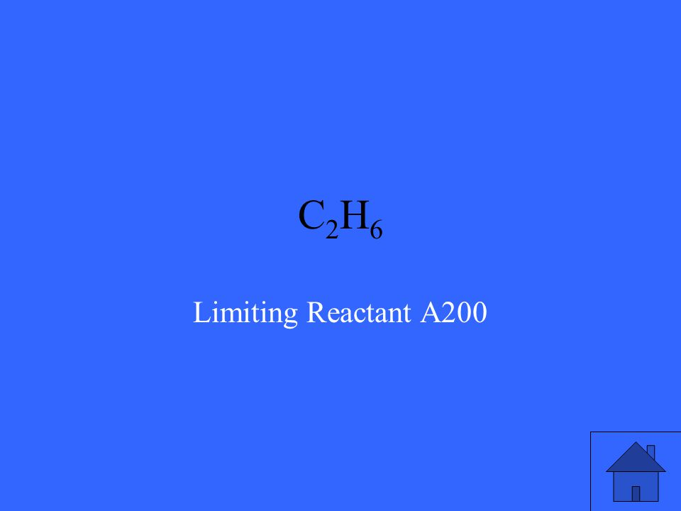 What is the limiting reactant if 20g C 2 H 6 burns in 60g O 2 .