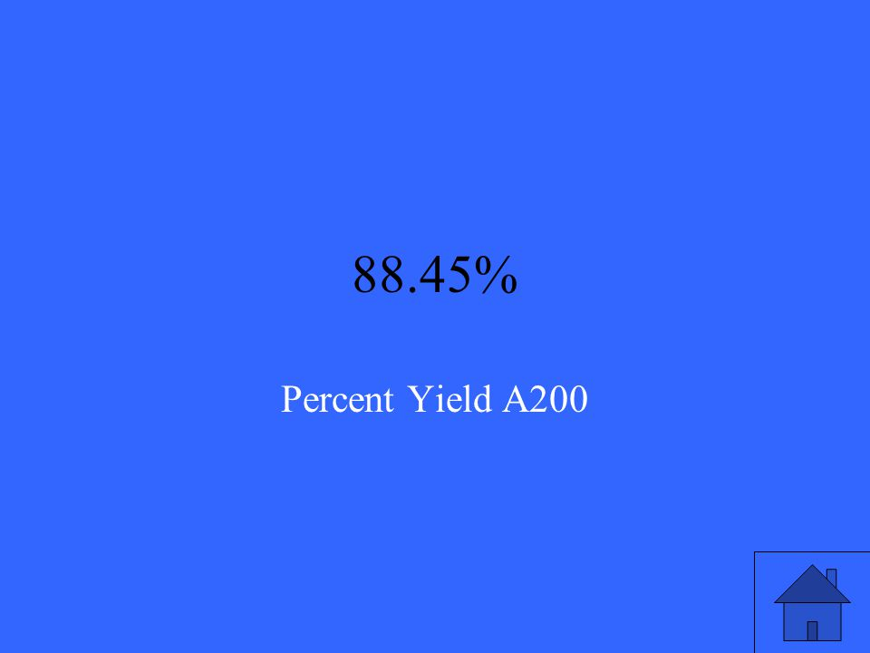 If the theoretical yield of a reaction is 125.75g and the actual yield is 111.23g, find the percent yield and round to two decimal places. Percent Yie