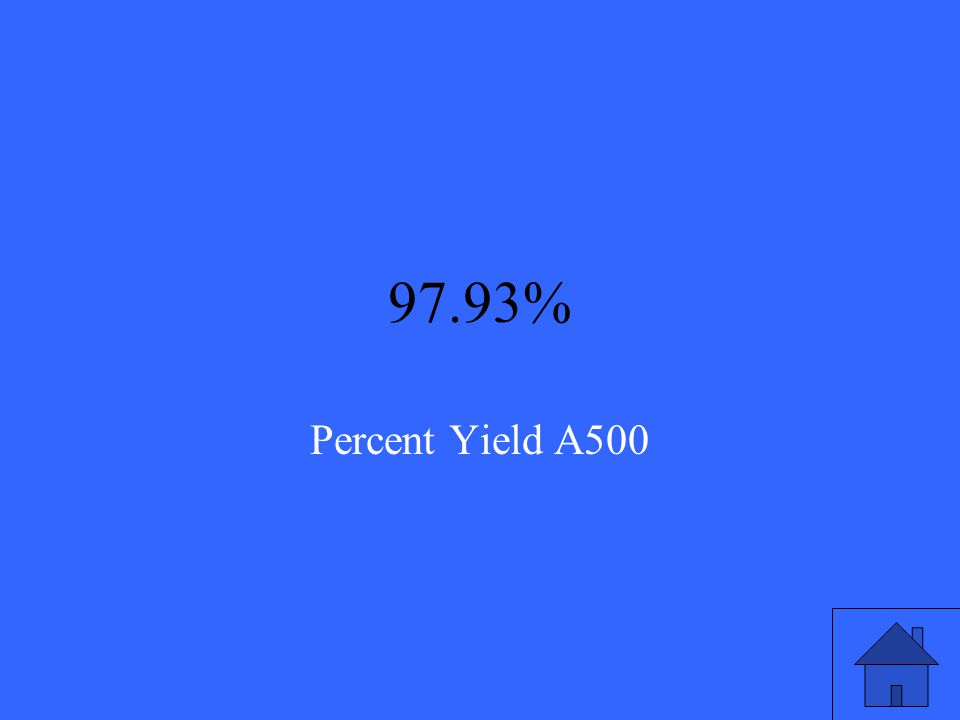 Calculate the percent yield of a reaction if 4504 grams of water was produced in reality, and when calculating it based on the limiting reactant, you found that the theoretical yield was 4599 grams of water.