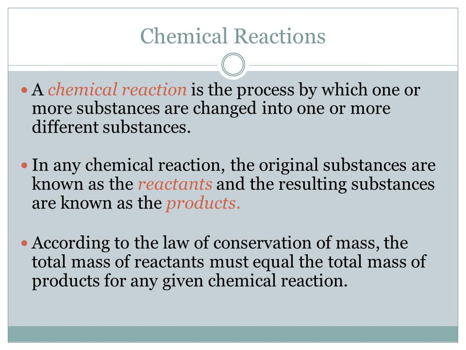 Chemical Equations A chemical equation represents, with symbols and formulas, the identities and relative molecular or molar amounts of the reactants and products in a chemical reaction.