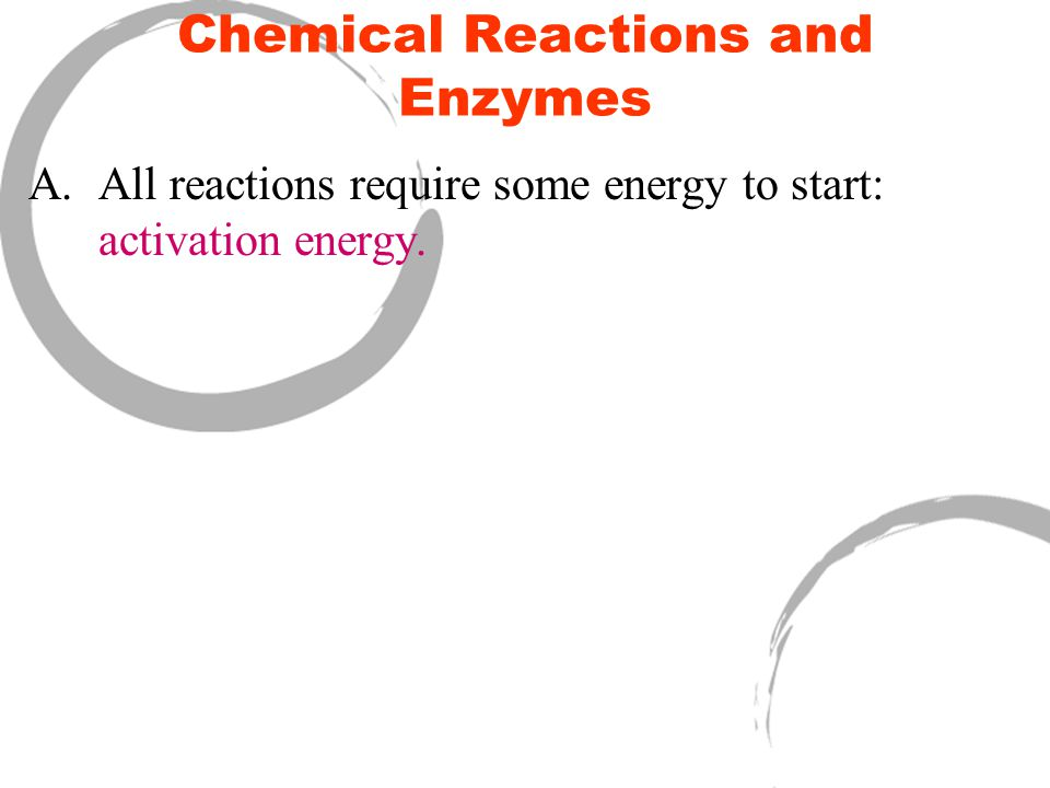 Chemical Reactions and Enzymes II.