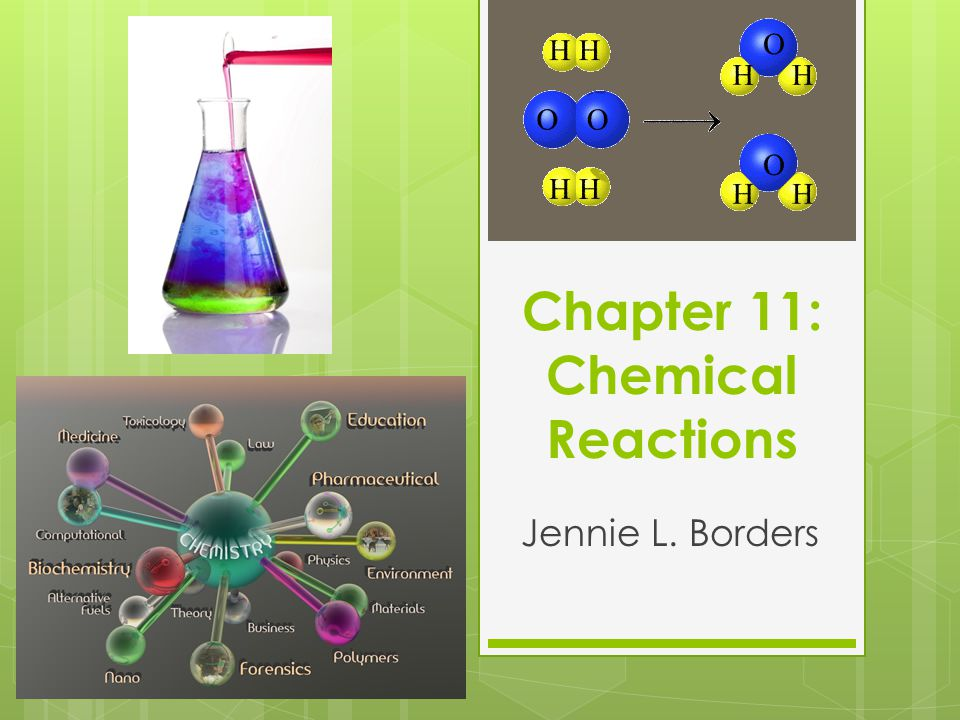 Chapter 11: Chemical Reactions Jennie L. Borders