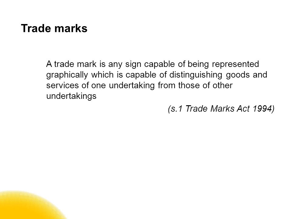 Trade marks – Types words designs shapes colours sounds smells?