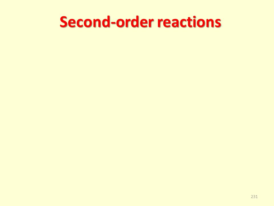 Second-order reactions 231