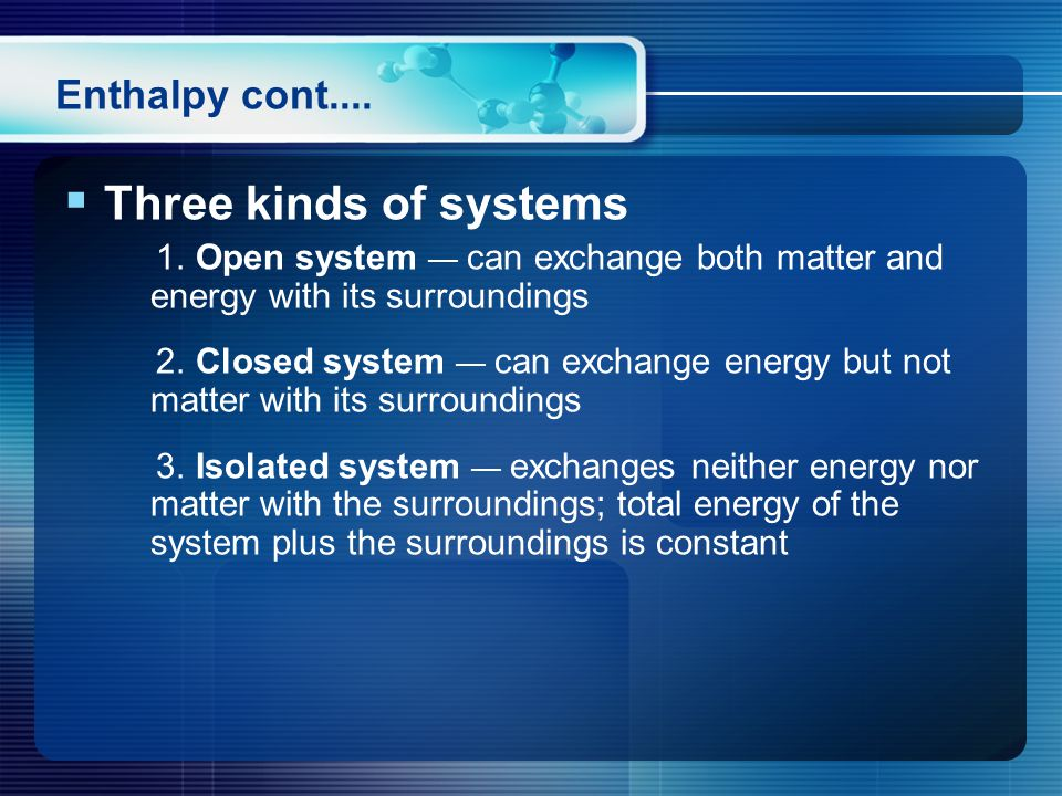  Three kinds of systems 1.