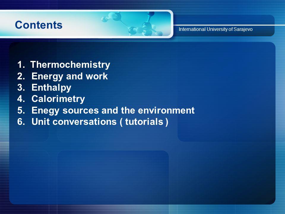 Contents International University of Sarajevo 1.